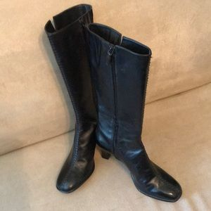 3/4 length leather boots.